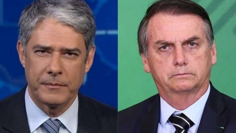 William Bonner ironiza pedido de ajuda de Bolsonaro à China